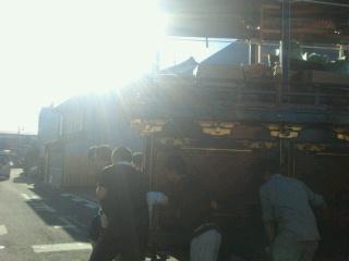 組立後、屋台小屋まで
