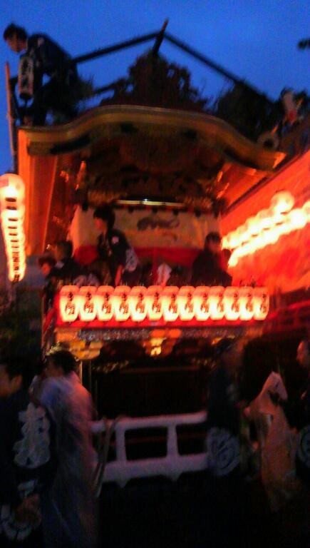 宵祭り神社曳き込み